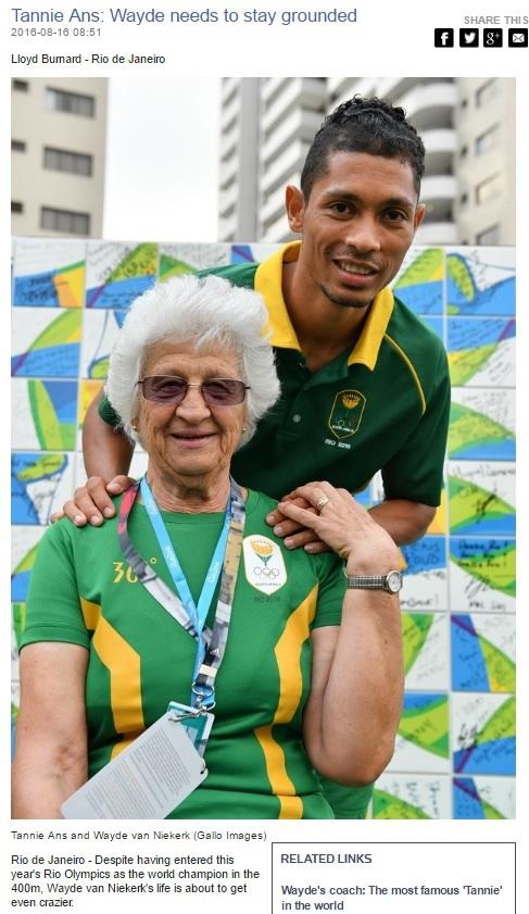 【海外発!Breaking News】陸上男子400mの南ア選手 「74歳女性コーチ」とつかんだ金メダル&世界新