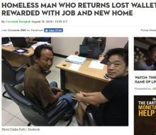 【海外発!Breaking News】財布を拾い警察へ届け出たホームレス、落とし主は感激のあまり…!?(タイ)