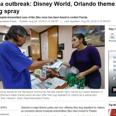 【海外発!Breaking News】ジカ熱対策で「蚊よけスプレー」無料配布 フロリダ州オーランドの3テーマパーク