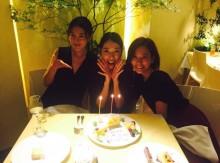 【エンタがビタミン♪】戸田恵梨香、28歳の誕生日を水川あさみ&玄理とお祝い「幸せーー!!」