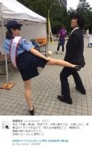 【エンタがビタミン♪】武田梨奈が婦警姿でケツキック! 高畑裕太「素敵な蹴りをありがとう」