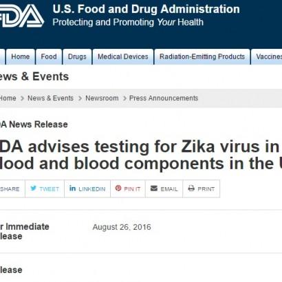 【海外発!Breaking News】輸血感染もわかったジカ熱 米国食品医薬品局「献血センターは徹底検査を」