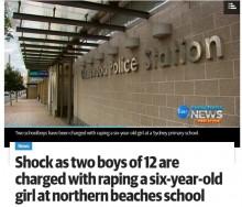 【海外発!Breaking News】6年生男子2名が1年生女子に性的暴行 小学校のトイレで(豪)