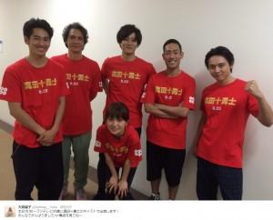 "『VS嵐』に出演した""真田十勇士""キャスト(出典:https://twitter.com/Oshima__Yuko)"