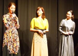 美人三姉妹を演じる佐々木希、比嘉愛未、ミムラ