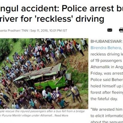 【海外発!Breaking News】運転手が運転中に携帯電話 超満員バスが橋から転落 21名死亡30名重傷(印)