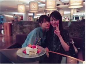 唐田えりかの誕生日を祝う有村架純(出典:https://www.instagram.com/kasumi_arimura.official)