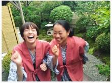 【エンタがビタミン♪】佐藤栞里&いとうあさこ、温泉浴衣で2ショット 「あさこさんのような品のある女性になりたい」