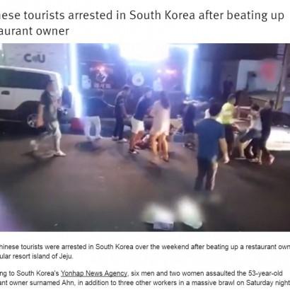 【海外発!Breaking News】酒類の無断持ち込みで大喧嘩 中国人旅行客8名、韓国の飲食店で店主らに暴行