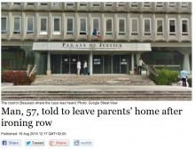 【海外発!Breaking News】「アイロンがけが遅い」両親に暴行を働いた57歳の息子に「親の家を出て自立すること」判決が下される(仏)
