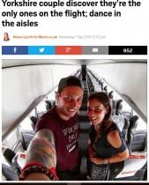 【海外発!Breaking News】搭乗客はたったの2人! 思わず通路でダンスしたイギリス人カップル