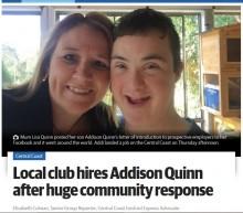 【海外発!Breaking News】ダウン症の少年が素晴らしい履歴書を書き、自らの力で仕事を得る(豪)