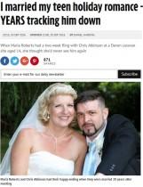 【海外発!Breaking News】14歳で一度だけ会った初恋相手と20年後に結婚 想いを貫いたカップル(英)