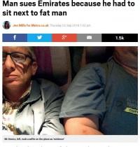 【海外発!Breaking News】肥満男性の隣に座った弁護士 「機内での旅を台無しにされた」と航空会社を提訴(伊)