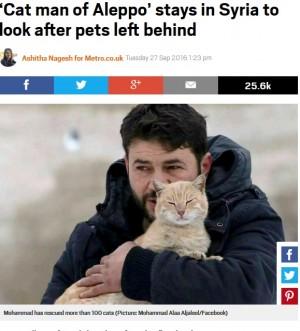 【海外発!Breaking News】「キャットマン」と呼ばれる男性 置き去りにされた猫の保護に命を懸ける(シリア)