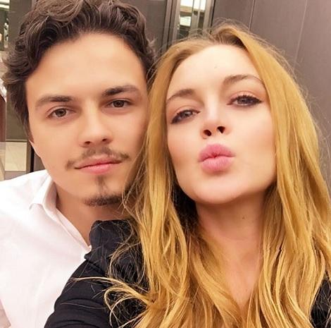 幸せだった頃の2人(出典:https://www.instagram.com/lindsaylohan)