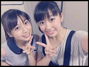 牧野真莉愛と和田桜子(出典:http://ameblo.jp/mm-12ki)