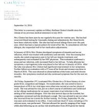 【海外発!Breaking News】主治医がヒラリー・クリントン氏の最新検査結果を公表 「大統領の座に就くにふさわしい非常に健康な心身」