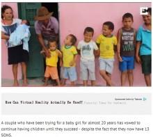 【海外発!Breaking News】「娘を授かるまで諦めない!」息子13人の父母が子作りを止めない理由(ブラジル)