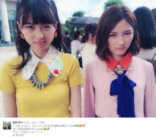 【エンタがビタミン♪】まゆゆ&はな AKB新曲『ハイテンション』MVオフショットが「悪い顔してる!」
