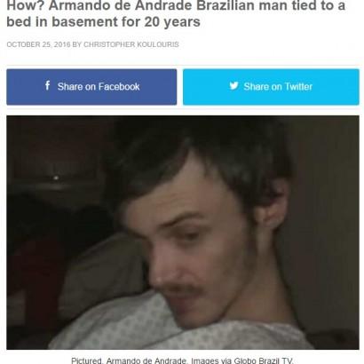 【海外発!Breaking News】行方不明だった少年、36歳で発見 父と継母が地下室に20年監禁か(ブラジル)