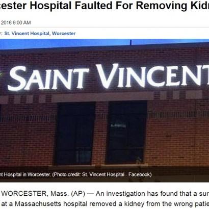 【海外発!Breaking News】同姓同名ゆえ混同 米病院で別の患者から健康な腎臓を摘出する医療ミス