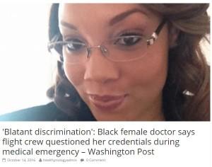 【海外発!Breaking News】デルタ航空CAが人種差別 急病人に対応しようとした黒人女性医師に「まさかあなたがお医者さん?」