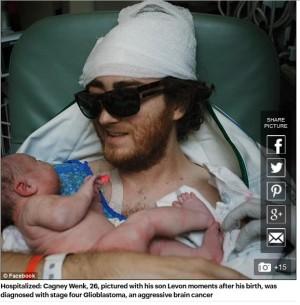 【海外発!Breaking News】ICUから分娩室へ 末期の脳腫瘍を患う父が我が子誕生の瞬間を共有(米)