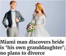 24歳女性と結婚した68歳の男性 妻は実の孫だった(米)