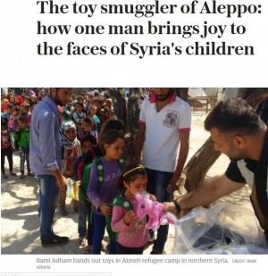 【海外発!Breaking News】命懸けで子供たちに玩具を運ぶ「玩具の密輸人」(シリア)
