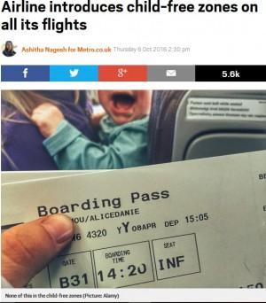 【海外発!Breaking News】インドの格安航空会社で「チャイルドフリーゾーン」の座席が設定される(印)
