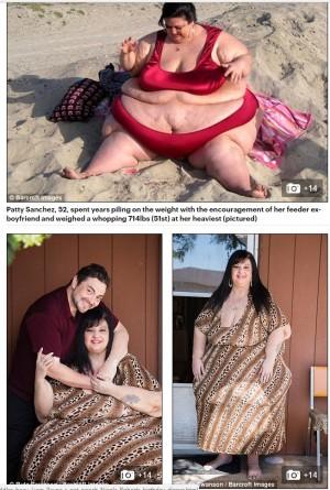 【海外発!Breaking News】「世界一デブになりたかった女性」 新しい彼により減量成功(米)