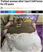 【海外発!Breaking News】世界一太った女性の苦悩 体重499.8kg 25年間一度も外出できず(エジプト)