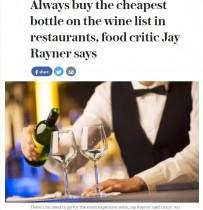 【海外発!Breaking News】英・辛口評論家 「外食時は格安ワインで十分。高級ワインは自宅で」