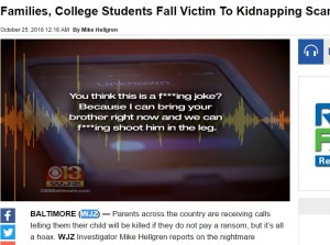 【海外発!Breaking News】米国各地でニセ誘拐・振り込め詐欺が多発 「犯人グループはSNSで情報収集」とFBI