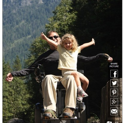 【海外発!Breaking News】下半身麻痺の父と娘の強い絆 「車椅子の父とのアドベンチャー」(米)
