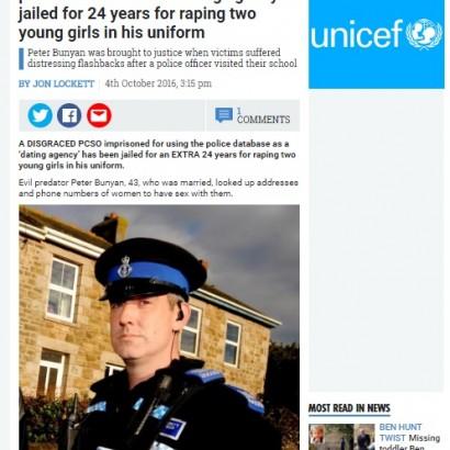 【海外発!Breaking News】43歳警察官が職場のデータベースを悪用 幼児性的暴行も繰り返す(英)