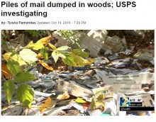 【海外発!Breaking News】山林で大量の未配達郵便物が発見される 配達員が投棄か(米)