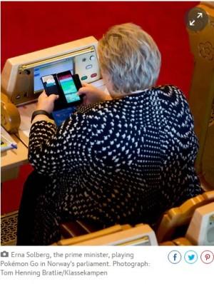 【海外発!Breaking News】ノルウェー首相 国会で「ポケGO」プレイもポケモンゲットできず