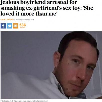 【海外発!Breaking News】「あなたとより気持ちイイ」 逆上した男、彼女のバイブレーターを叩き壊して逮捕(英)