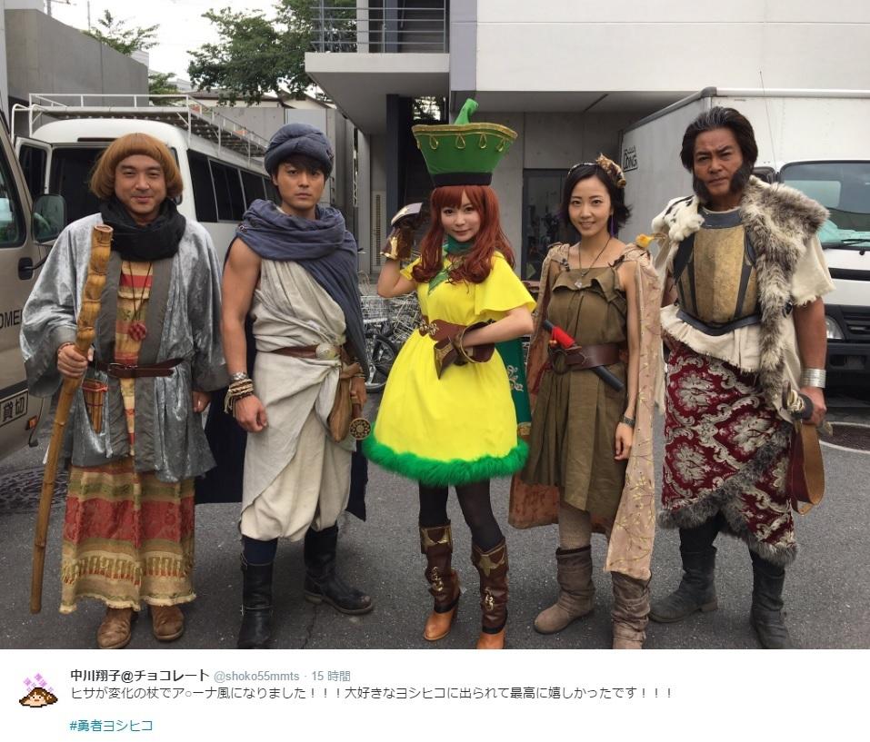 『勇者ヨシヒコ』に出演した中川翔子:中央(出典:https://twitter.com/shoko55mmts)