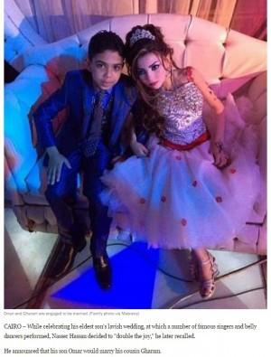 【海外発!Breaking News】11歳少女と婚約した12歳少年 「めでたいこと」喜ぶ父親に批判殺到(エジプト)