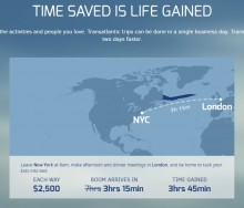 【海外発!Breaking News】NY-ロンドンが3時間15分! 新・超音速旅客機「Boom」 来年にも試験飛行