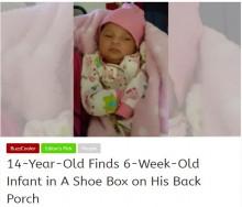 【海外発!Breaking News】裏庭に捨てられたナイキの箱に生後6週の赤ちゃん(NY)