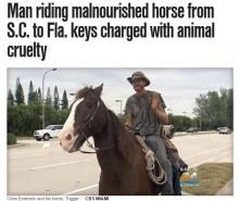 【海外発!Breaking News】1100kmも馬を歩かせ続けた男 動物虐待で逮捕(米)