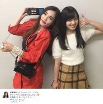 【エンタがビタミン♪】橋本環奈&平野ノラ 異色ツーショットも「決めポーズが同じ!」