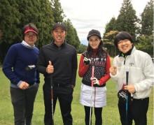 【エンタがビタミン♪】橋本マナミとゴルフを楽しむ河村隆一 全盛期の面影なく「太ったな~」の声