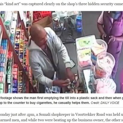 【海外発!Breaking News】犯行中に客が入店 笑顔で商品を売る強盗(南ア)