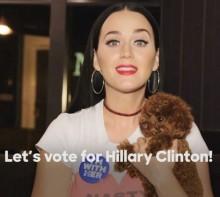 【イタすぎるセレブ達】ケイティ・ペリー最後のお願い「どうかヒラリー・クリントンに投票を!」