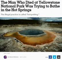 【海外発!Breaking News】米イエローストーン国立公園で強酸性熱水泉に落ちた男性 遺体は溶解